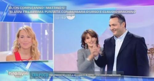 Claudio Brachino e Barbara D'Urso