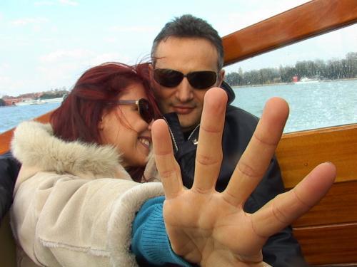 Brachino con la moglie Barbara Benedettelli