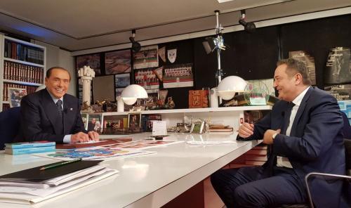 Claudio Brachino e Silvio Berlusconi
